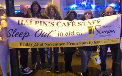 Halpin's sleepout in aid of Wicklow Simon Community